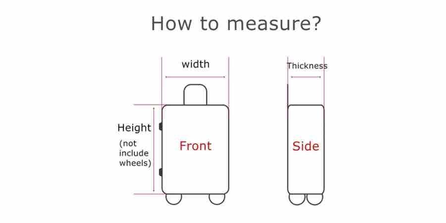 Como medir las maletas